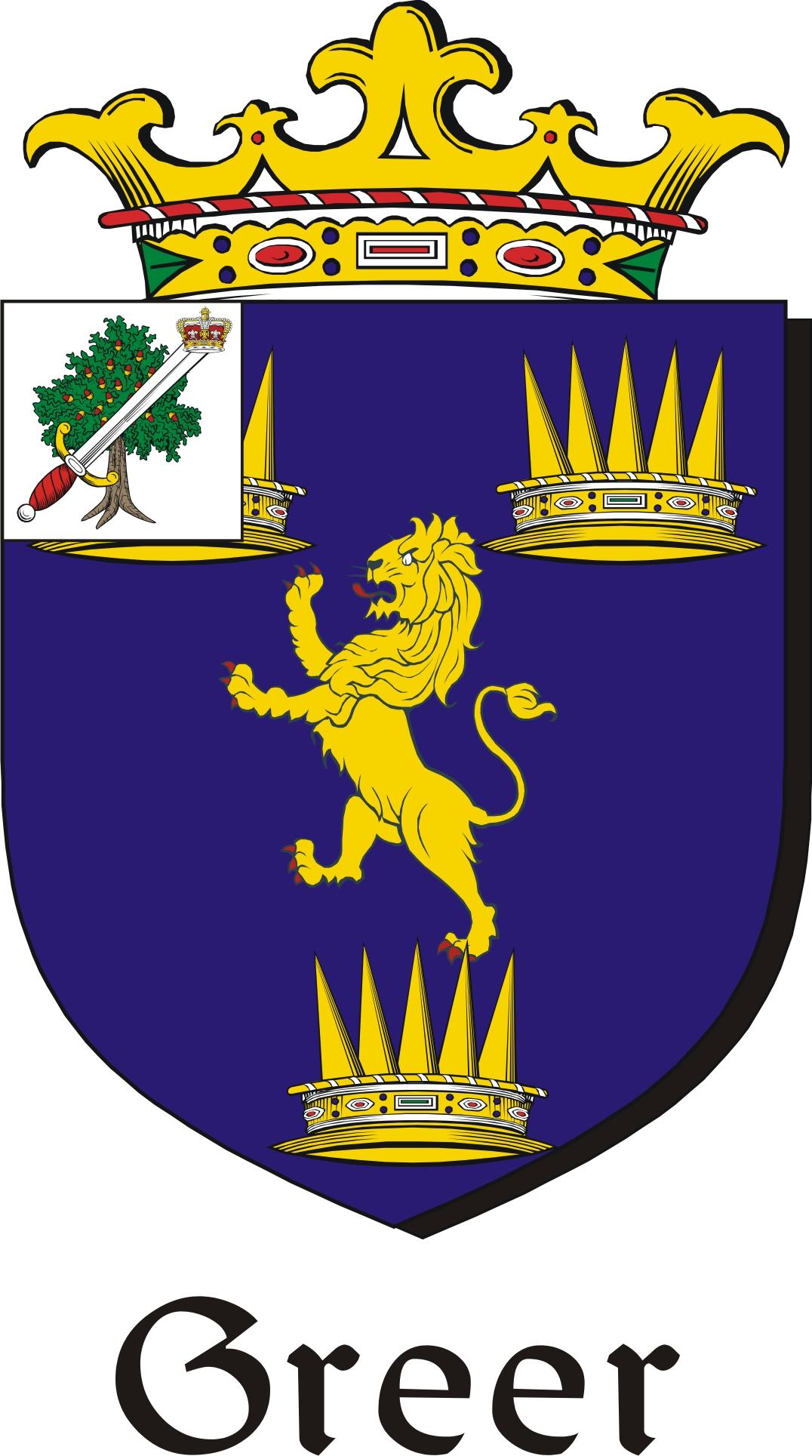 Greer family crest irish coat of arms image download greercoat greer family crest irish coat of arms image download buycottarizona Images