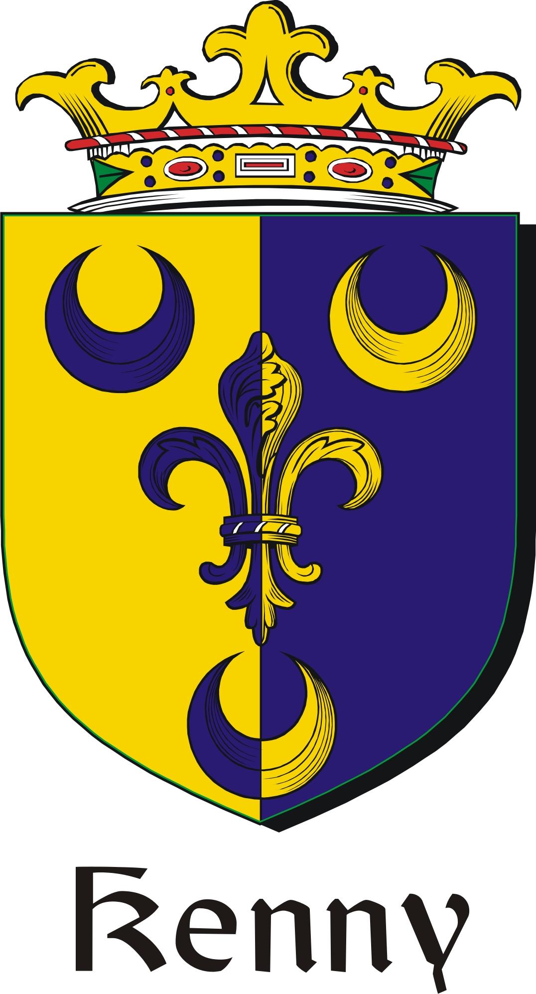 Kenny family crest irish coat of arms image download kennycoat kenny family crest irish coat of arms image download buycottarizona Images