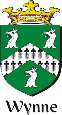 Wynne Family Crest / Irish Coat of Arms Image Download